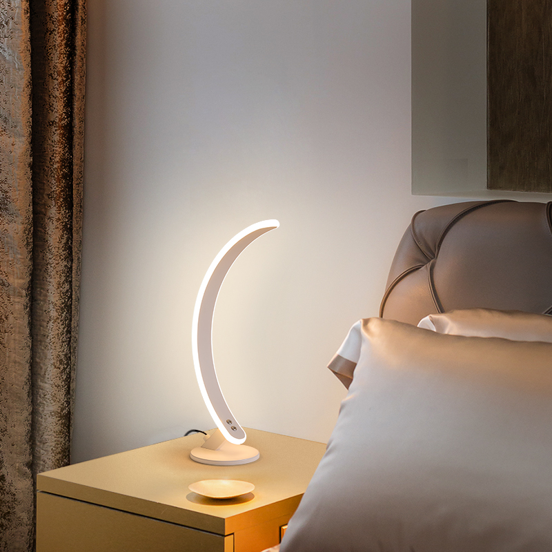 Factory price custom design curve lamps home decor bed read led table lights