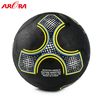 high-quality custom black rubber football ball size 5 soccer training ball