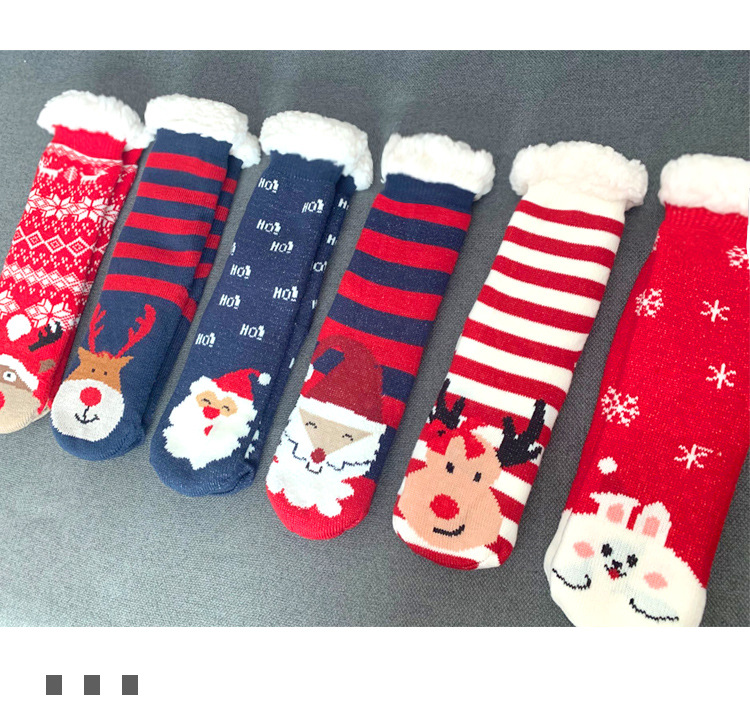 Decorative Gift Box Knee High Toddler Cartoon Tube Police Socks Police Pet Wool Christmas Socks