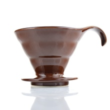 Do Hot sell brown/black coffee  filter cup Japanese style V60 Ceramic Coffee Dripper kitchen machine TV02