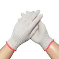high tenacity polyester white household safety anti cut gloves for assembly and repair work