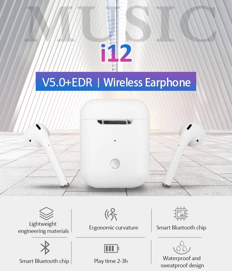Up Versi Asli Pabrik I12 Tws Headphone Earphone