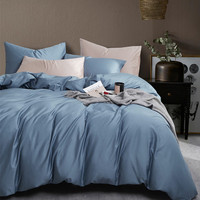 luxury sateen 100% cotton Bed linen sheet set