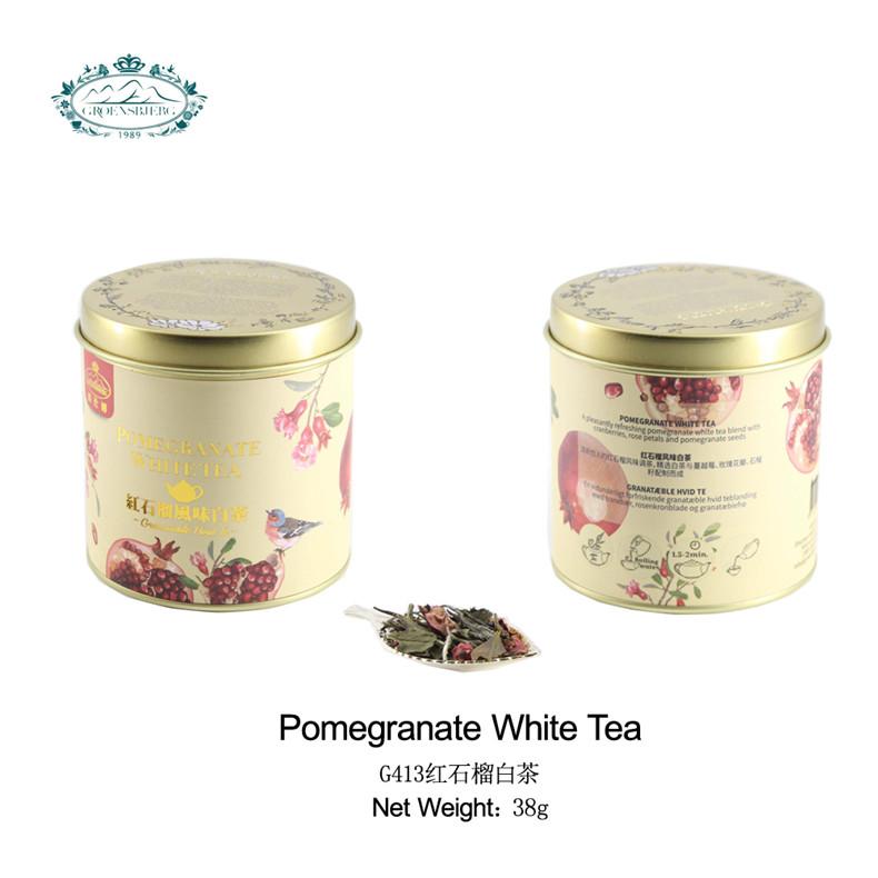 wholesale loose leaf tea Red pomegranate white tea with cranberry rose petals medical natural flower tea leaves - 4uTea | 4uTea.com