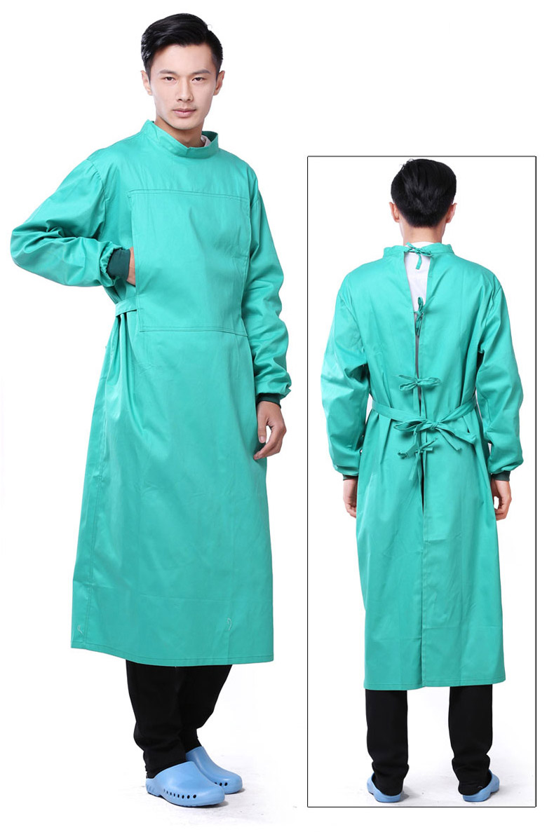 cheap washable fabric reusable doctor gown for hospital