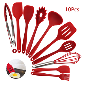 FDA Approved Food Grade Nonstick 10pcs Kitchen Accessories Kitchenware Silicone Cooking Baking Gadgets Kitchen Tools Utensil Set