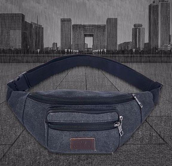 Unisex Sport Bum Bags Outdoor Canvas Fanny Packs for Running Waist Bag Hiking Waistpack for Men Women