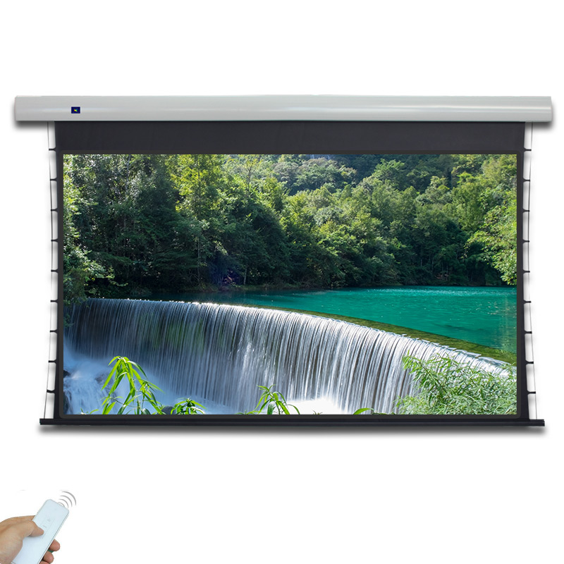 XYScreen 150inch 16:9/4:3/2.35:1 Household Viewing Area Motorized Projector Screen with Remote Control projector Screen