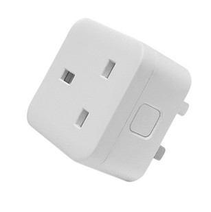 Voice APP mobile phone timer switch socket wifi smart socket British standard with metering