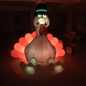 Custom Outdoor Advertisement Holiday Light Inflatable Turkey for Thanksgiving