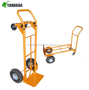 250kg Folding Hand Truck 2 IN 1 Hand Cart Dolly with Flat Free Wheels