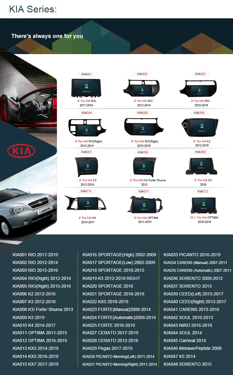 "2020 IOKONE OEM 9 ""IPS 2.5D HD 2 din android gps navigation system touch screen auto radio For KIA Sedona / Carnival 2014"