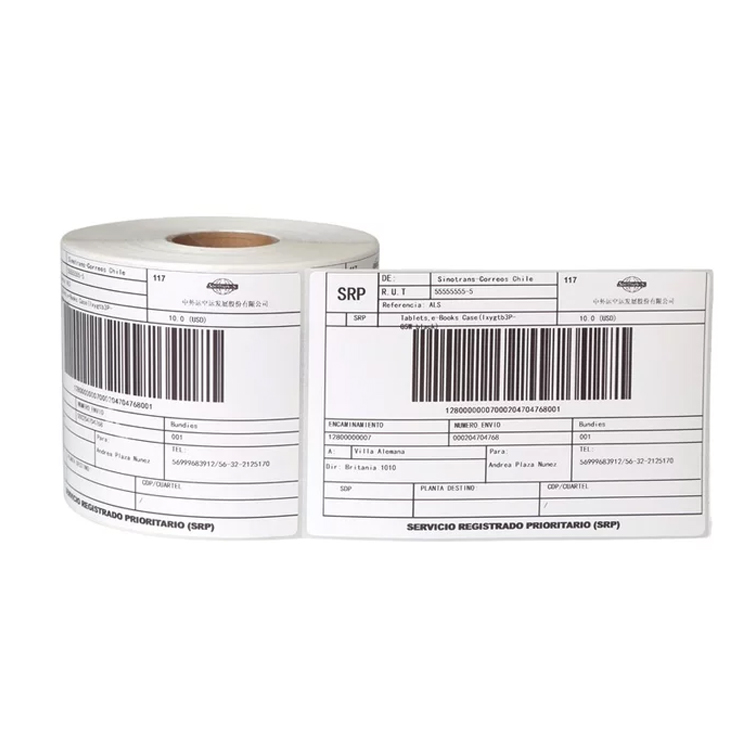 High quality thermal label bar code sticker 100*150 thermal shipping label