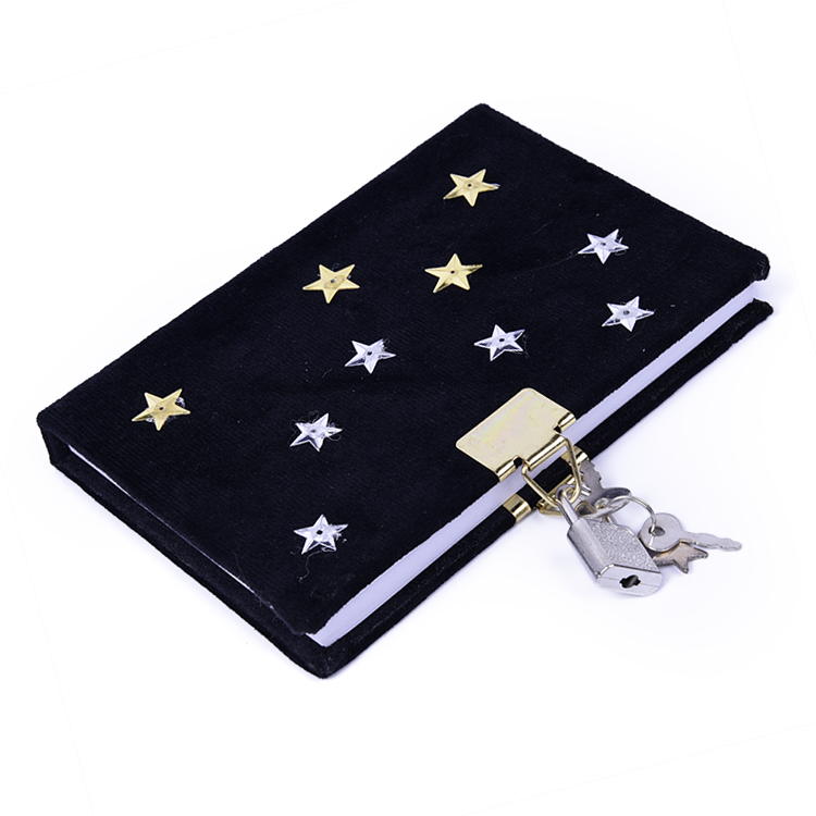 Creative Student Diary Notebook Hardcover With Lock,A6 80 Sheets Personalized Composition Notebook Gift