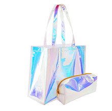 Cina Pabrik Folding Custom Fashion Tote Hologram Tas