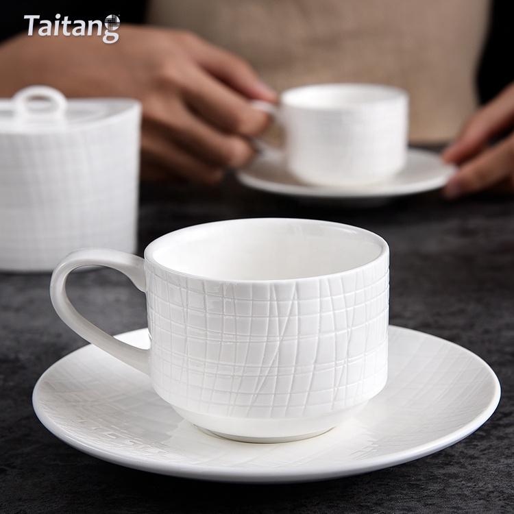格安価格特別レストランプレートコーヒーカップセット卸売格安レストラン食器