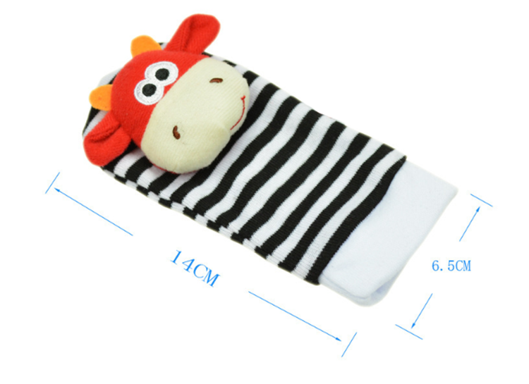 Infant Baby Kids Socks rattle toys Wrist Rattle and Foot Socks 0~24 Months Hot sale products