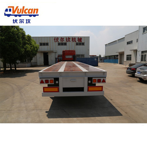 Supplier aluminum folding camper flatbed container semi trailer with foldable ramp