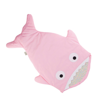Feiyou new style baby sleeping bag 100% Cotton Shark baby Sleeping Bag cute muslin baby swaddle blanket sleeping bag newborn