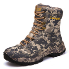 High Ankle Military Man Tactical Combat Army Leather Outdoor Large Size Shoe Hunting Camping Camouflage Boot