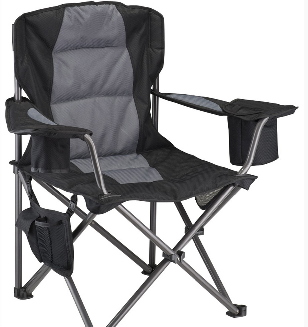 Camping Chair With Wine Glass Holder And Cooler Pocket/outdoor