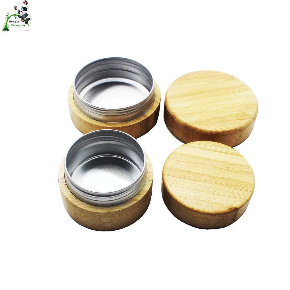 spice packaging bamboo aluminum jar food grade custom logo size BP-131K