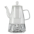 Phiphy borosilicate glass teapot with teawarmer, heat resistence teapot with infuser