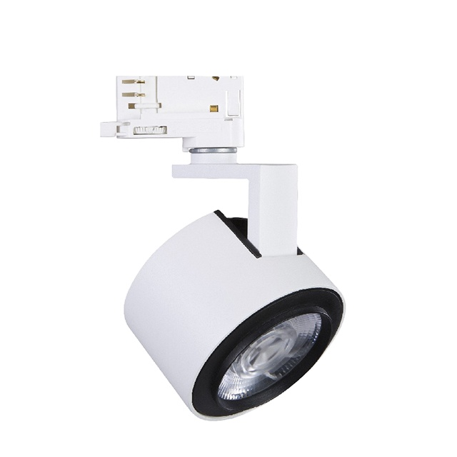 2019 High Quality 10w 20w 30w 3pins Shopping lighting COB led track light 4000K CRI90 LED track light