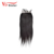 factory price 4*4 lace closure straight 100% Brazilian human hair lace frontal closure with baby hair