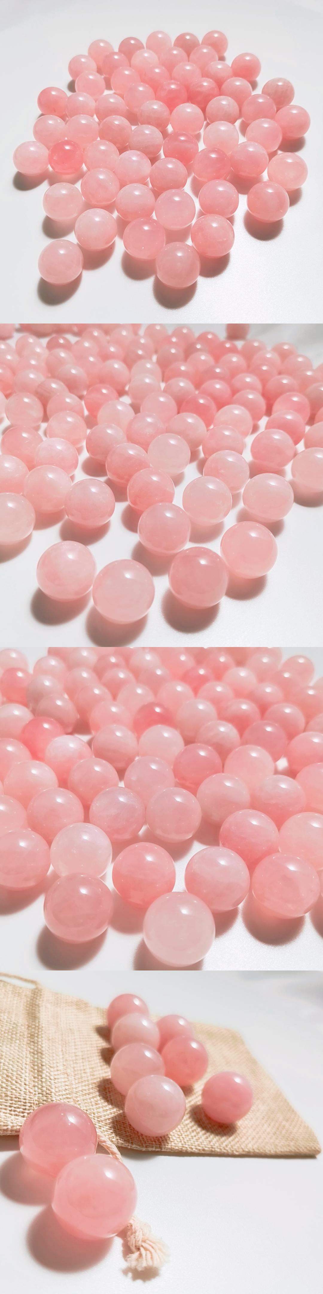 20mm natural pink quartz crystal spheres rose quartz balls