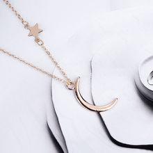 Модное ожерелье с подвеской в виде Луны, женское новое длинное ожерелье, Очаровательная цепочка, трендовые ожерелья для женщин и девочек, юв...(Китай)