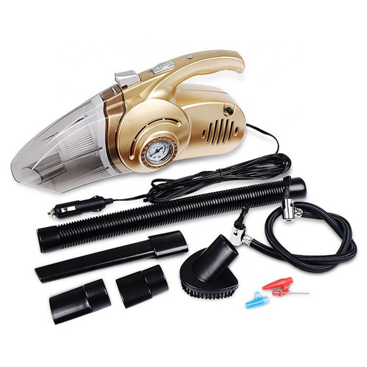 Professional Multifunctional High Power 12V 120w 4 In 1 Portable Handheld Car Cleaning Vacuum Cleaner
