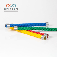 High quality ce mooring rope steel wire rope compound rope