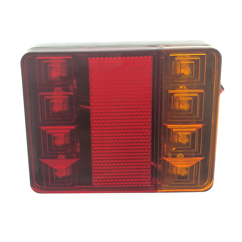 Hot Sales 12V Rectangle Truck Car Trailer Boat Caravan LED Combination Tail Light with Reflector / Stop/ Tail/ Indicator Lamp
