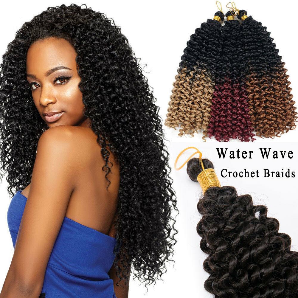 Envío gratuito freetress pelo crochet de la onda de agua del pelo del ganchillo crochet trenza de pelo 22 pulgadas