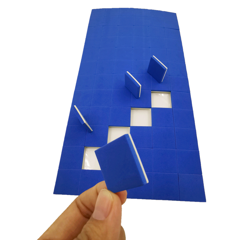 25*25*3+1mm Thickness Blue EVA Rubber Cling Foam Glass Shipping Protective Separator Pads