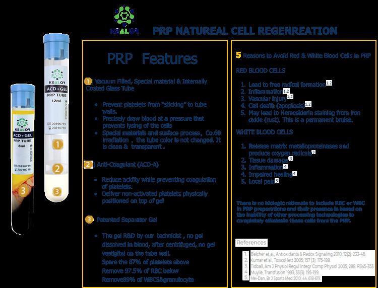 CE Approved 10ml PRP Platelet Rich Plasma