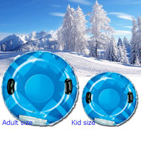 2019 Winter Custom Plastic Snow Tube Sled For Kids