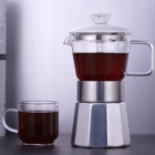 High Coffee Makers Coffee Maker Glass High Borosilicate Heat-resistant Glass Aluminum Moka Pot Coffee Makers