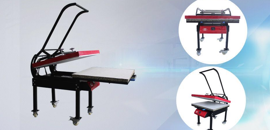 Manual 100 x 80 Platen size 80x100 black max big heat press 220v sublimation heat transfer press machine with pull cy-001b