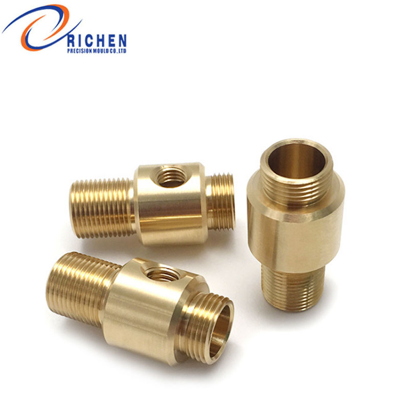 Wholesale CNC lathe precision customized aluminum brass parts machining <strong>manufacturing</strong>