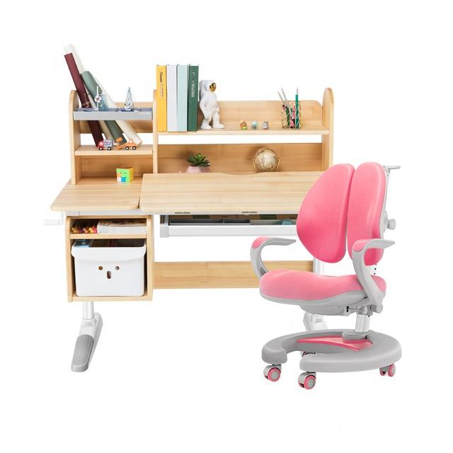 igrow  Environmentally friendly of children furniture desks children wooden desk students study desks and chairs