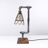 Loft Industrial Water Tube Light American Retro Creative Table lamp