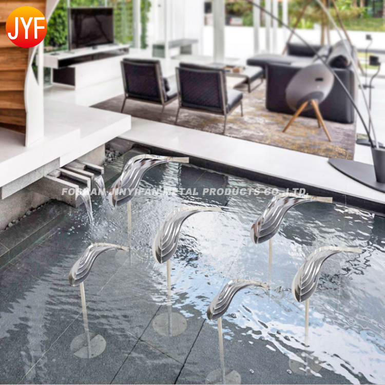 JYF04 New Style Silver Color Outdoor Metal Fish Sculpture Wall for Sale Stainless Steel Fish Sculpture
