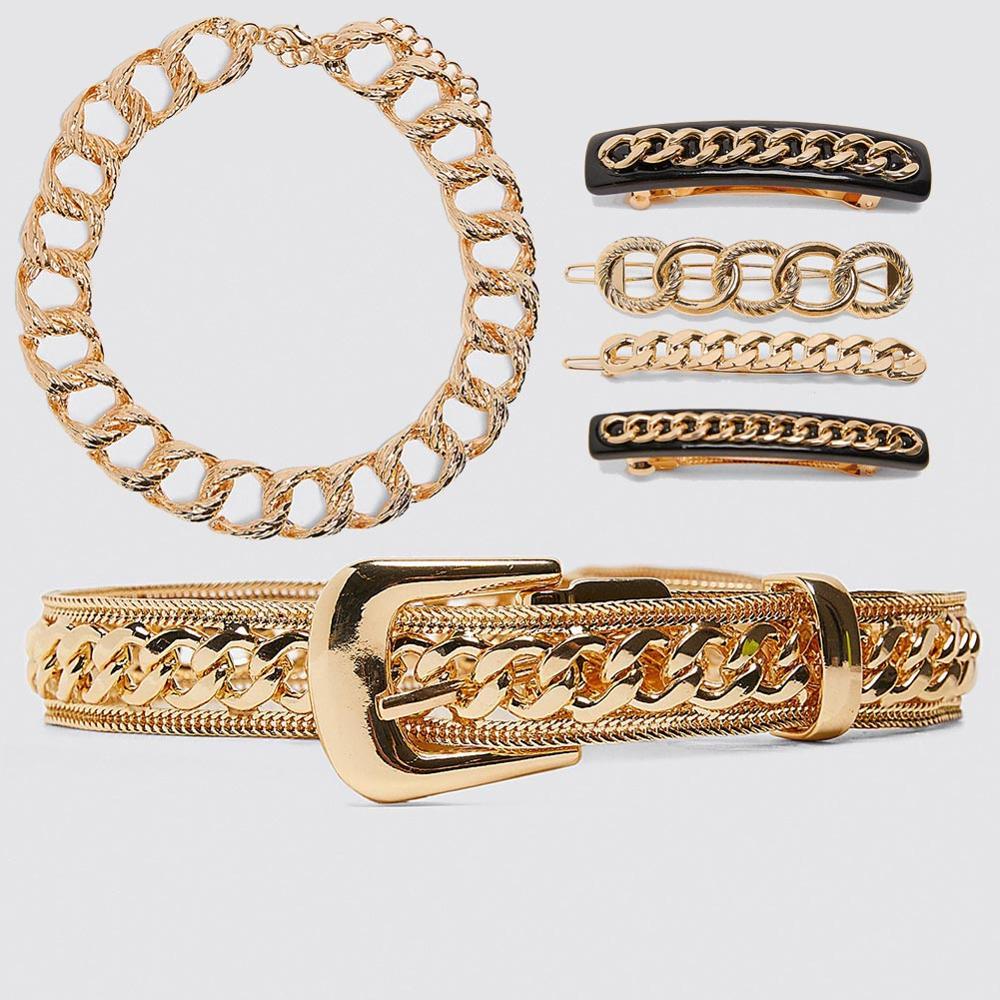 Dvacaman Za Fashion Wholesale Trendy Ladies Gold Plated Leather Woven Hollow Rhinestone Women Belt