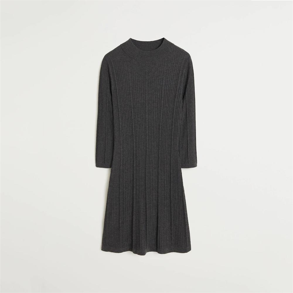 Vente chaude robes pour femmes longues en laine automne hiver femmes robe chandail tricoté de haute qualité