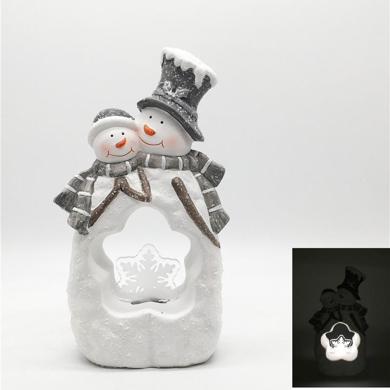 Gnome Kerst Ornamenten Kerst Geschenkdoos Ornamenten Blank Acryl Ornament Led Keramische Huis