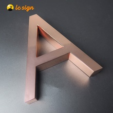 Stainless steel 3d signs led letter advertising metal sign aluminium channel letter for salon shop signs