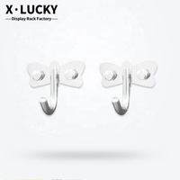 Different color styles fashion modern plastic wall hook for hat and clothes hook