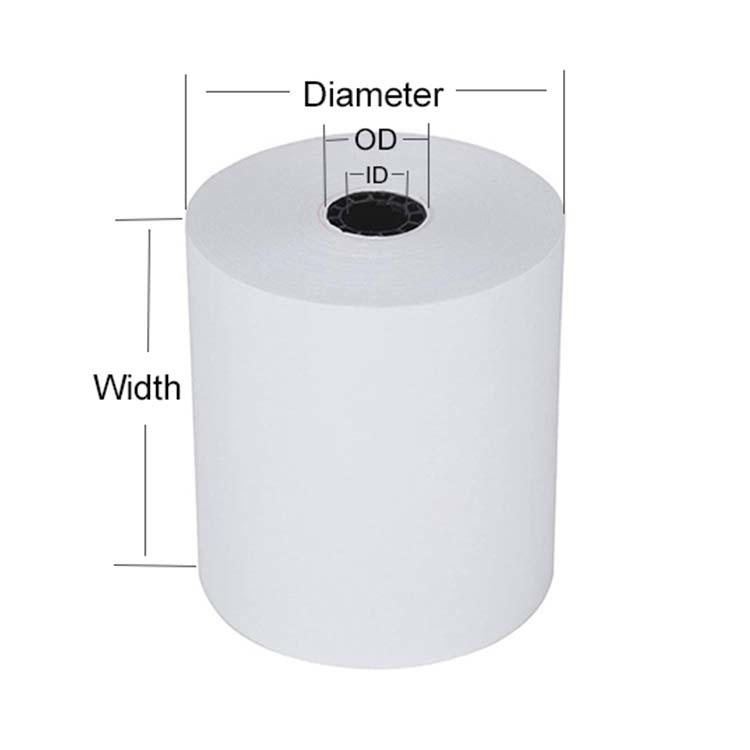 Kaidun bpa free high quality 80mm*80mm custom printed cashier pos thermal paper rolls